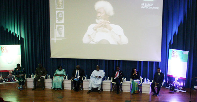 Speakers at the 2017 wole soyinka centre media lecture series