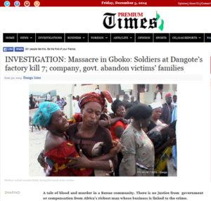 Massacre in gboko - soldiers at dangote's factory kill 7