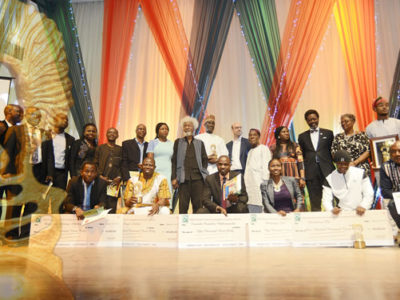 Wole Soyinka with 2015 Award Winners