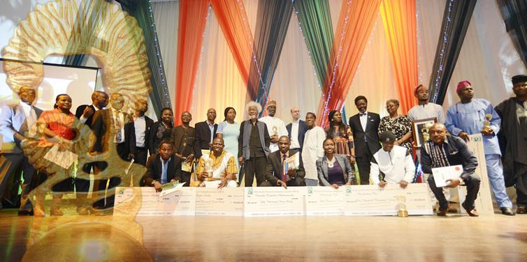 Wole Soyinka with 2015 Award Winners